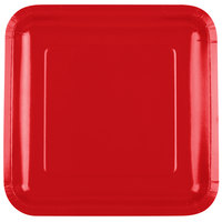 Creative Converting 463548 9 inch Classic Red Square Paper Plate - 18/Pack