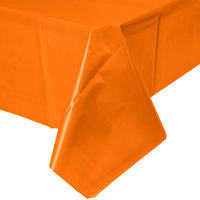 Creative Converting 01192B 54 inch x 108 inch Sunkissed Orange Plastic Table Cover