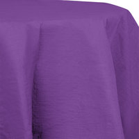 Creative Converting 318941 82 inch Amethyst Purple OctyRound Tissue / Poly Table Cover