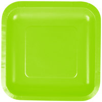 Creative Converting 453123 7 inch Fresh Lime Green Square Paper Plate - 18/Pack