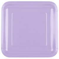 Creative Converting 463265 9 inch Luscious Lavender Purple Square Paper Plate - 18/Pack