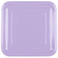 Creative Converting 463265 9 inch Luscious Lavender Purple Square Paper Plate - 18/Pack