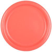 Creative Converting 473146B 9 inch Coral Orange Round Paper Plate - 24/Pack