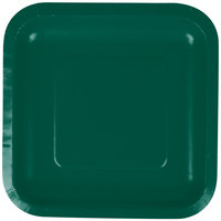 Creative Converting 453262 7 inch Hunter Green Square Paper Plate - 18/Pack