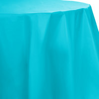 Creative Converting 703552 82 inch Bermuda Blue OctyRound Plastic Table Cover