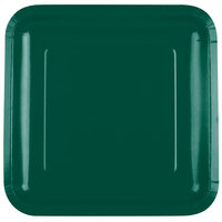 Creative Converting 463262 9 inch Hunter Green Square Paper Plate - 18/Pack