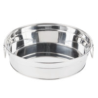 American Metalcraft STUB12 12 inch x 3 1/8 inch Round Stainless Steel Metal Tub