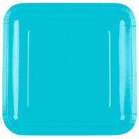 Creative Converting 463552 9 inch Bermuda Blue Square Paper Plate - 18/Pack