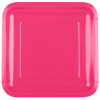 Creative Converting 463277 9 inch Hot Magenta Pink Square Paper Plate - 18/Pack
