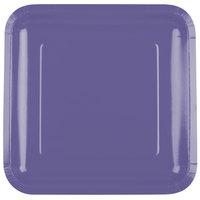 Creative Converting 463268 9 inch Purple Square Paper Plate - 18/Pack