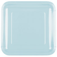 Creative Converting 463279 9 inch Pastel Blue Square Paper Plate - 18/Pack