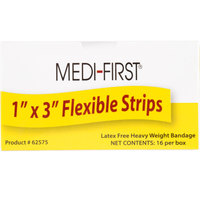 Medique 62575 Medi-First 1 inch x 3 inch Woven Bandage Strip - 16/Box