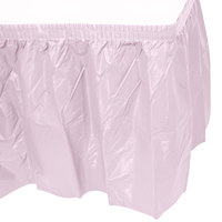 Creative Converting 010016 14' x 29 inch Classic Pink Plastic Table Skirt