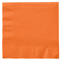 Creative Converting 139352135 Sunkissed Orange 2-Ply 1/4 Fold Luncheon Napkin - 600/Case