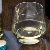 WNA Comet RESSGL14 Reserv 14 oz. Clear Plastic Stemless Wine Goblet - 16/Pack