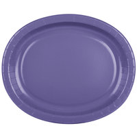 Creative Converting 433268 12 inch x 10 inch Purple Oval Paper Platter - 8/Pack