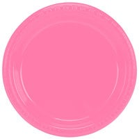 Creative Converting 28304221 9 inch Candy Pink Plastic Plate - 20/Pack