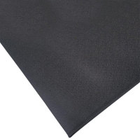 Cactus Mat 1001R-C6 72 inch x 60' Pro-Tekt Black Vinyl Carpet Protection Runner Mat - 1/8 inch Thick