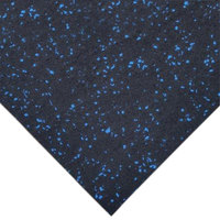 Cactus Mat 1035R-4CSU 48 inch x 50' Enviro-Gym Sports Floor Blue Rubber Floor Mat - 3/8 inch Thick