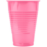 Creative Converting 28304271 12 oz. Candy Pink Plastic Cup - 20/Pack