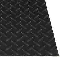 Cactus Mat 1054R-C475 Cushion Diamond-Dekplate 4' x 75' Black Anti-Fatigue Mat Roll - 9/16 inch Thick