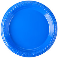 Dart Solo PS75B-0099 7 inch Blue Plastic Plate - 25/Pack
