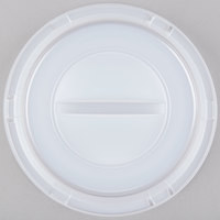 Dart 9CRTF Translucent Dome Lid for Foam Plates - 125/Pack