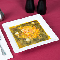 World Tableware SL-13 Slate 16 oz. Ultra Bright White Wide Rim Square Porcelain Soup Bowl - 12/Case