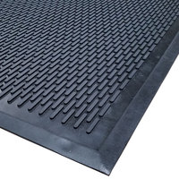 Cactus Mat 1625-C46 Ridge-Scraper 4' x 6' Heavy-Duty Rubber Safety Mat - 3/8 inch Thick