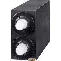 San Jamar C2952BK Sentry Black 2-Slot Vertical 8 - 44 oz. Countertop Cup Dispenser Cabinet