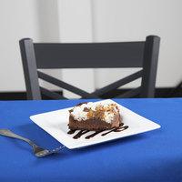 World Tableware SL-7 Slate 7 1/4 inch Ultra Bright White Wide Rim Square Porcelain Plate - 24/Case