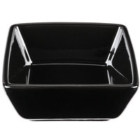 World Tableware SL-3-B Slate 2.75 oz. Black Square Porcelain Dipping Bowl - 36/Case