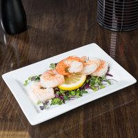 World Tableware SL-20 Slate 8 inch x 5 5/8 inch Ultra Bright White Wide Rim Rectangular Porcelain Plate - 24/Case