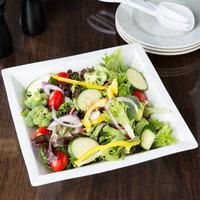 World Tableware SL-80 Slate 80 oz. Ultra Bright White Wide Rim Square Porcelain Banquet Bowl - 6/Case