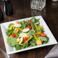 World Tableware SL-14 Slate 30 oz. Ultra Bright White Wide Rim Square Porcelain Pasta Bowl   - 12/Case
