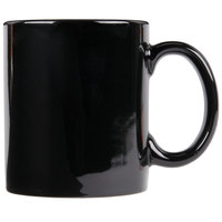 World Tableware CM-12-B Slate 12 oz. Black Porcelain Mug   - 12/Case