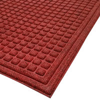 Cactus Mat 1508M-R35 Enviro-Tuff 3' x 5' Red / Black Carpet Mat - 3/8 inch Thick