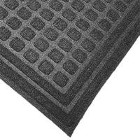 Cactus Mat 1508M-E35 Enviro-Tuff 3' x 5' Slate Gray Carpet Mat - 3/8 inch Thick