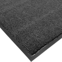 Cactus Mat 1471M-L35 3' x 5' Charcoal Olefin Carpet Entrance Floor Mat - 3/8 inch Thick