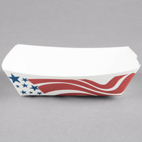 Southern Champion 530 #25 1/4 lb. USA Flag Paper Food Tray - 1000/Case