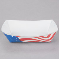 Southern Champion 530 #25 1/4 lb. USA Flag Paper Food Tray - 1000 / Case