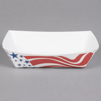 Southern Champion 531 #40 6 oz. USA Flag Paper Food Tray - 1000/Case
