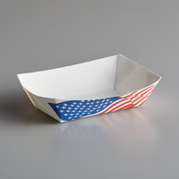 #40 6 oz. USA Flag Paper Food Tray - 1000/Case