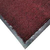 Cactus Mat 1471M-T34 3' x 4' Burgundy Olefin Carpet Entrance Floor Mat - 3/8 inch Thick
