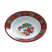 Thunder Group 1110TP Peacock 12 oz. Round Melamine Soup Plate - 12/Pack