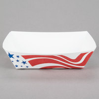 Southern Champion 535 #250 2.5 lb. USA Flag Paper Food Tray - 500/Case