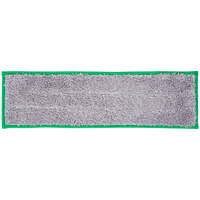 Unger DD400 SmartColor Green Dry / Damp 13.0 Mop Pad - 19 1/2 inch