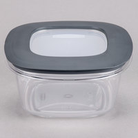 Rubbermaid 1937691 5 Cup Clear Square Premier Storage Container with Lid