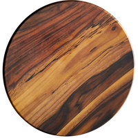 American Metalcraft AWM14 13 1/2 inch Round Melamine Serving Board / Charger - Faux Acacia