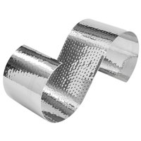American Metalcraft HSR16 16 1/2 inch x 6 inch x 7 inch Hammered Stainless Steel S-Shaped Riser